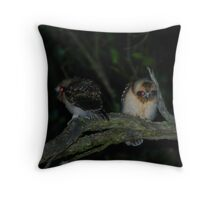 Baby Boo-Book Owls Throw Pillow