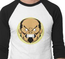 Angry Samurai   Yellow Variation Men's Baseball ¾ T-Shirt
