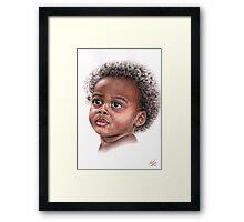African Child Framed Print