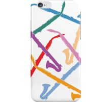 Colorful Alto Clarinets iPhone Case/Skin