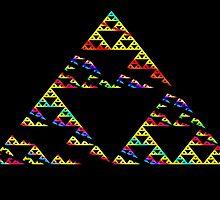 Rainbow Slash Serpinsky by Hypnogoddess