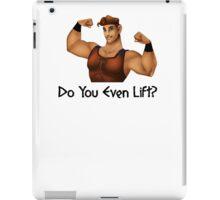 Hercules Asks, Do You Even Lift? iPad Case/Skin