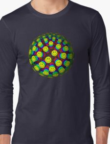 Smiling Happy Faces Long Sleeve T-Shirt
