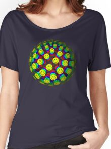 Smiling Happy Faces Women's Relaxed Fit T-Shirt