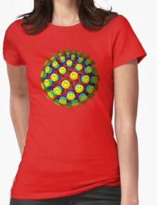 Smiling Happy Faces Womens Fitted T-Shirt