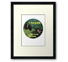 Tarzan Meets Star Wars Framed Print