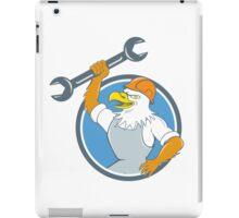 Bald Eagle Mechanic Spanner Circle Cartoon  iPad Case/Skin