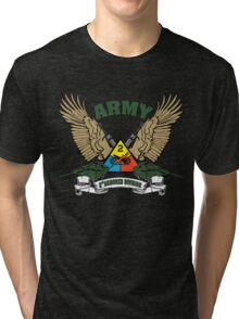 2nd Armored Division U.S. Army Tri-blend T-Shirt