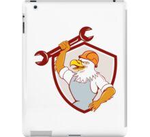 American Bald Eagle Mechanic Spanner Shield Cartoon  iPad Case/Skin