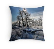 Frosty Scape Throw Pillow