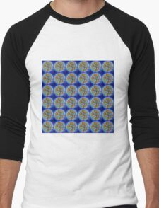 Tree of Life in Blue Men's Baseball ¾ T-Shirt