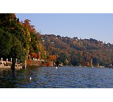 when fall meets Lake Photographic Print