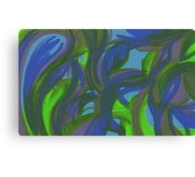 Blue and Green Energies Canvas Print