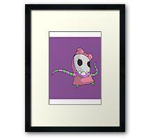 skull girl print Framed Print