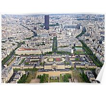 Paris from the Eiffel Tower Poster