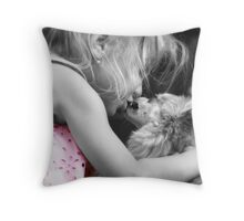 Puppy Kisses Throw Pillow