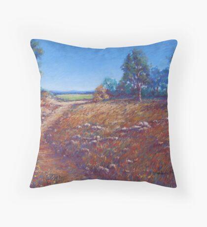 'Track near Tooborac' Throw Pillow