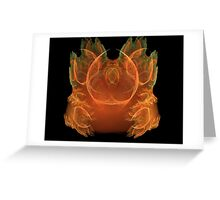 Fractal Flame Crown Greeting Card