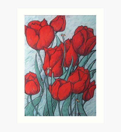 'Tulips' Art Print
