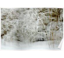 Snowstorm in Valserine forest Poster