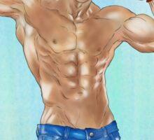 Muscled Guy Sticker