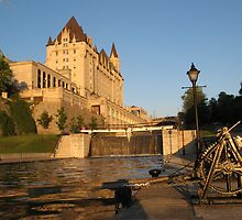 Chateau Laurier Hotel along the Rideau Canal, Ottawa by (Tallow) Dave  Van de Laar