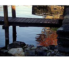 fall mirroring in the lake Photographic Print