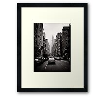 Manhattan avenue in black and white Framed Print