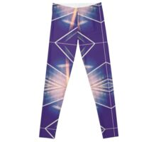 blue aztec Leggings