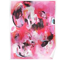 pink abstract Poster