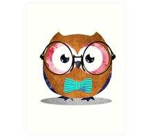 Nerdy Owl Art Print