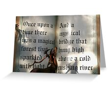 Once upon a chilly morning... Greeting Card
