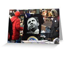 Economic Stimulus Barack Obama Greeting Card