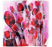 abstract flower painting Poster