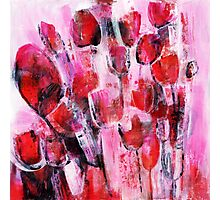 abstract flower painting Photographic Print