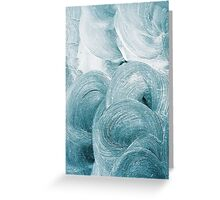 Blue Swirl Greeting Card