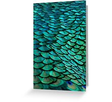 Green Feathers (2) Greeting Card