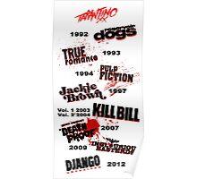 Quentin Tarantino - Art Filmography Poster