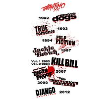Quentin Tarantino - Art Filmography Photographic Print