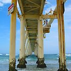 Under the Jetty at Fingal Bay by Penny Smith