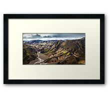 ICELAND:THE LOST VALLEY Framed Print