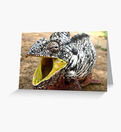the modern  dinosaur Greeting Card