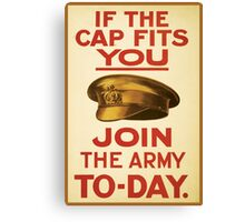 'Join the Army' Wartime Vintage Poster Canvas Print