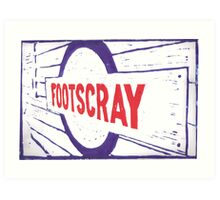 Footscray (blue red) Art Print