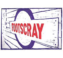 Footscray (blue red) Photographic Print