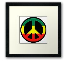 Rasta Peace Framed Print