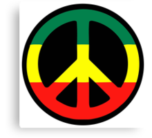 Rasta Peace Canvas Print