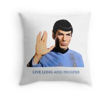 Spock - Live Long And Prosper - Star Trek Throw Pillow