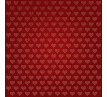 Red Vintage Heart Pattern Photographic Print