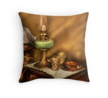 The Gas Lamp Throw Pillow